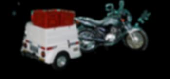 Carretinha para Moto com capacidade 2 caixas