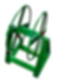 BF representações tem CARRETEL CABO FORÇA * Fabricado em aço Ø 3/8'' e barra chata 38.1x4.76 * Capacidade p/ enrolar cabo força 5x2.5 100m