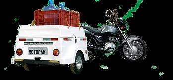 Carretinha para Moto Capacidade 200 Kg, 4 caixas dentro, mais 2 sobre a tampa