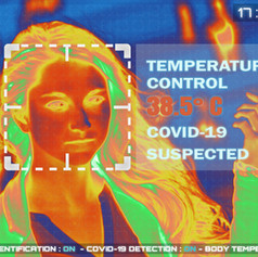 Simulation of body temperature check by