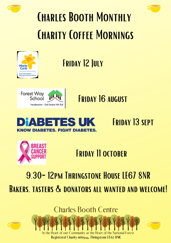 Charles Booth Monthly Charity Coffee Mor