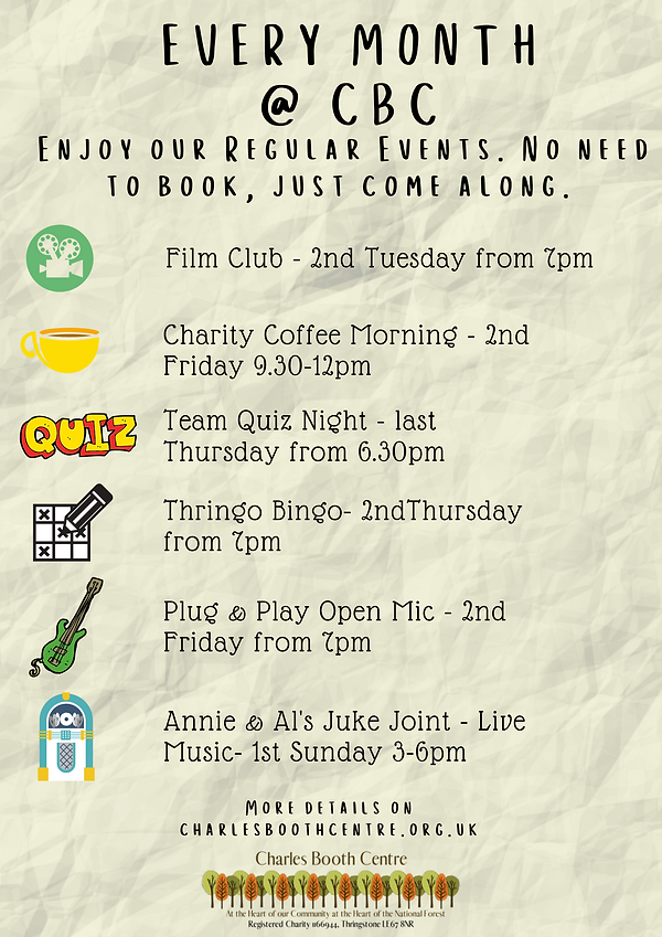 Come and Enjoy our Regular Events at CBC