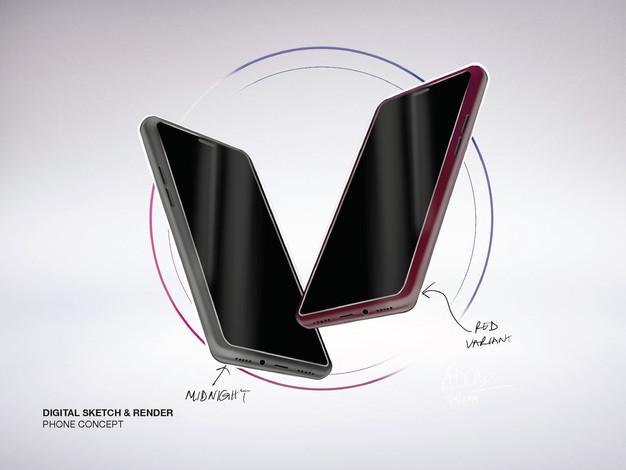 Phone Concept Sketch & Render
