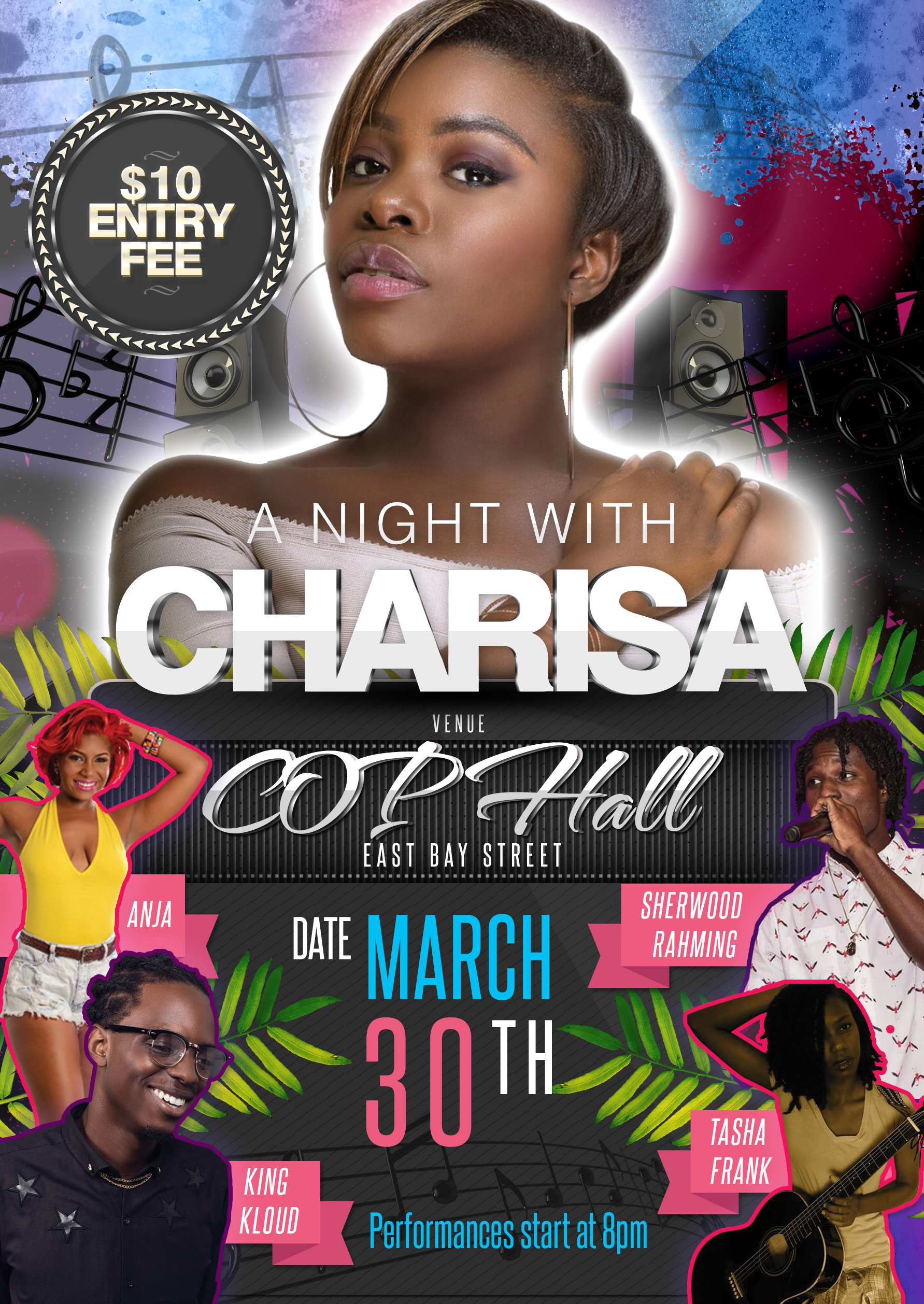 A Night With Charisa Flyer