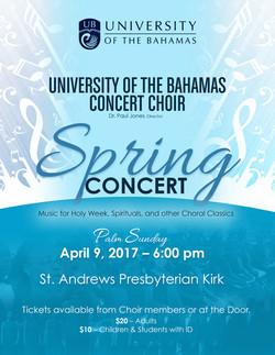 UB Concert Choir Spring Flyer