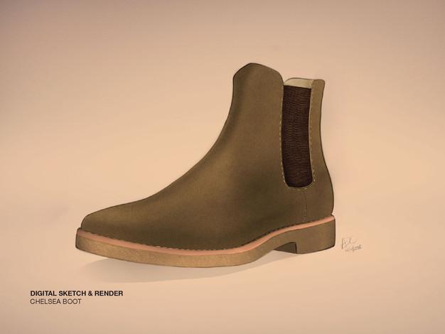 Chelsea Boot Sketch & Render
