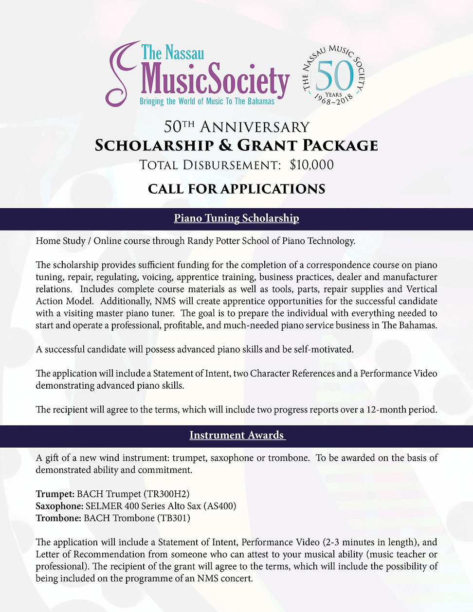 NMS Scholarship & Grant Package Applicat