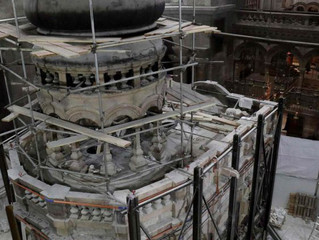 Tomb of Jesus: SMT sensors help monitor and report on the wall moisture level of the renovation