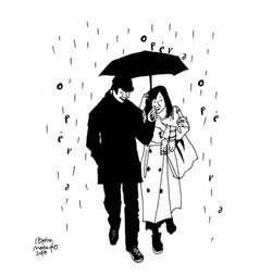 059雨の日のふたり