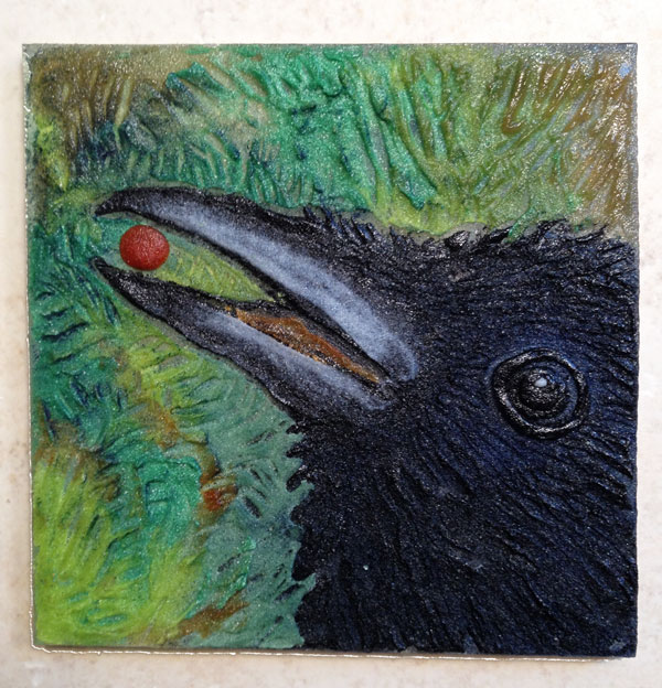 Raven With a Berry