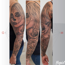 tatouage santa muerte