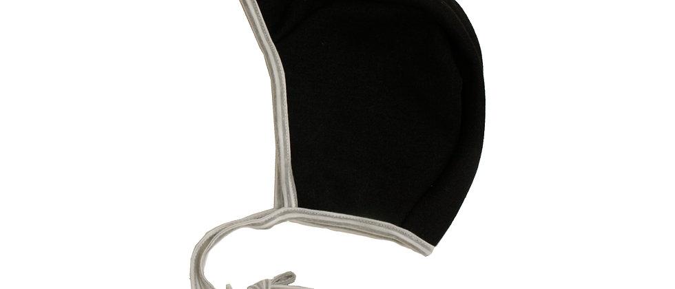 כובע טייס דו צדדי אפור/ שחור/פסים