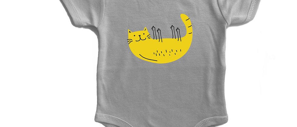 בגד גוף חתול על הגב