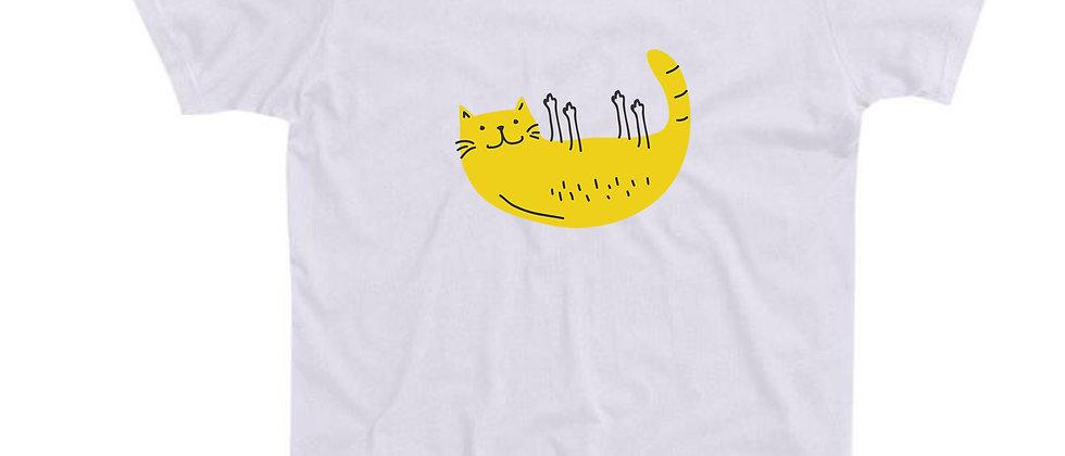 בייסיק טי חתול על הגב