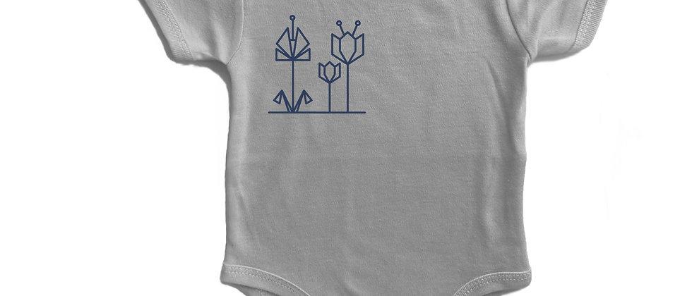 בגד גוף הדפס פרחים קטן