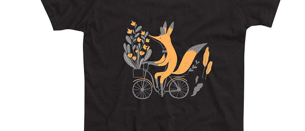 בייסיק טי שועל על אופניים