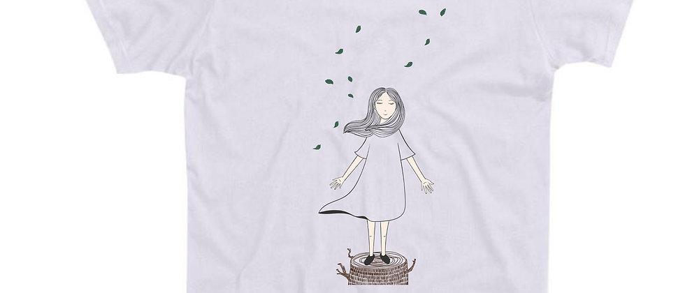 בייסיק טי ילדה ועץ