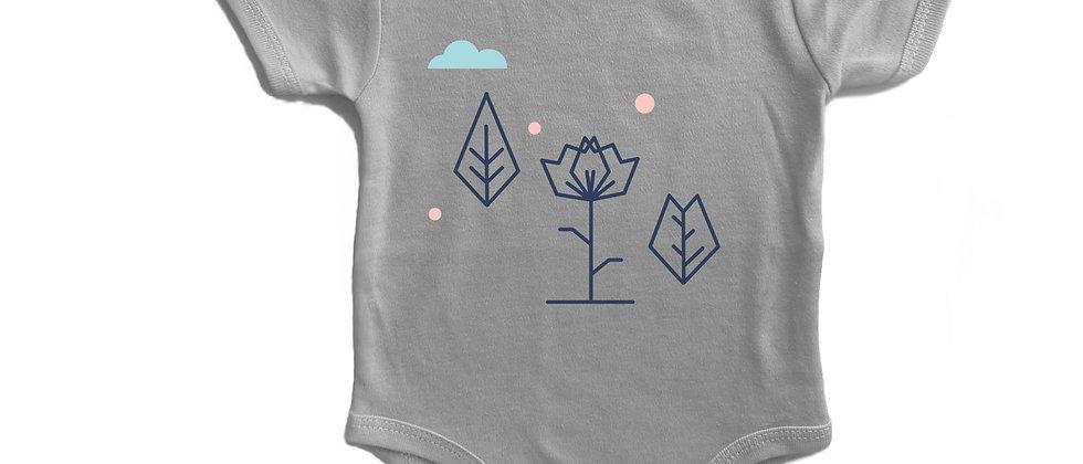 בגד גוף פרח גאומטרי