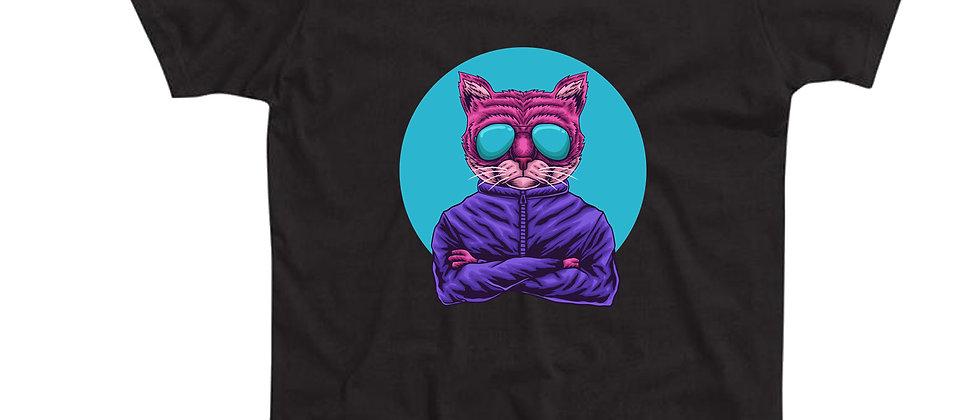 בייסיק טי חתול עם משקפי שמש