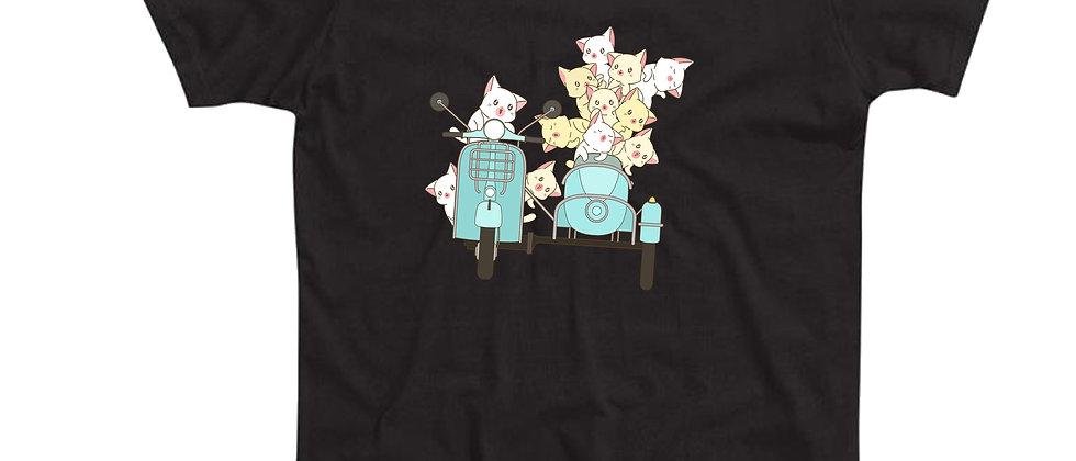 בייסיק טי חתולים על אופנוע