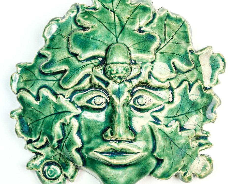 Green man mask 1