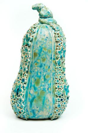 Turquoise squash ornament