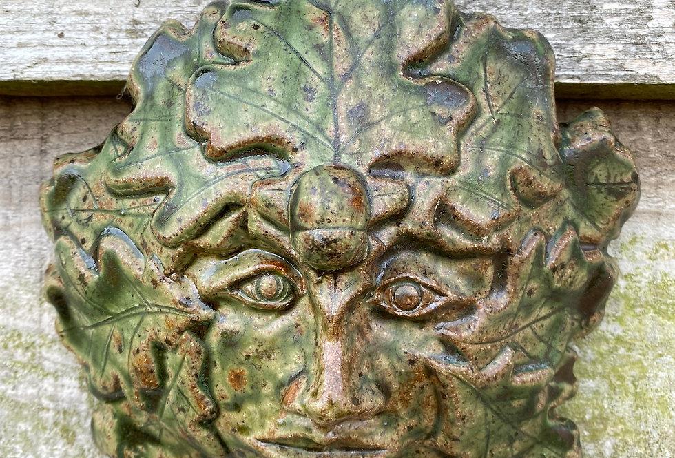 Green Man mask 2