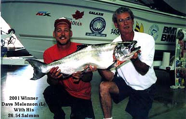 2001 Winner Dave Melenson (L)