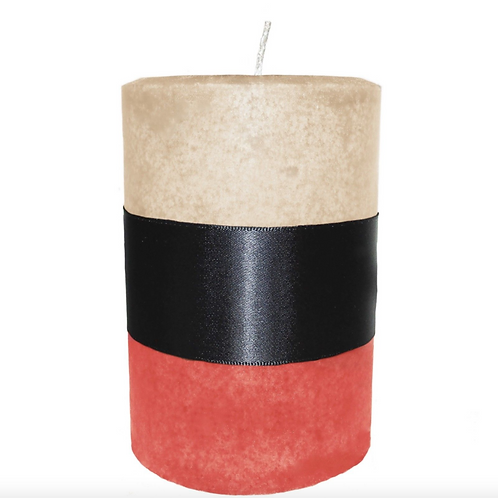 Peaches and Cream Pillar Candle