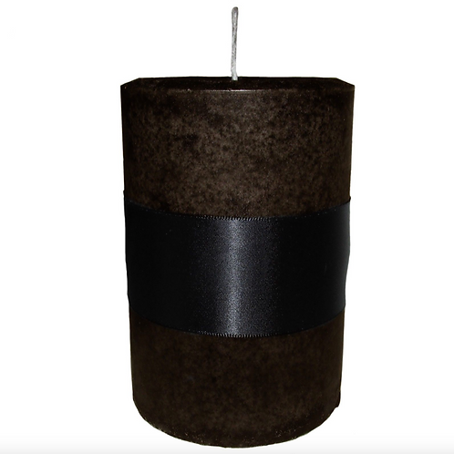 Rich Tobacco Pillar Candle