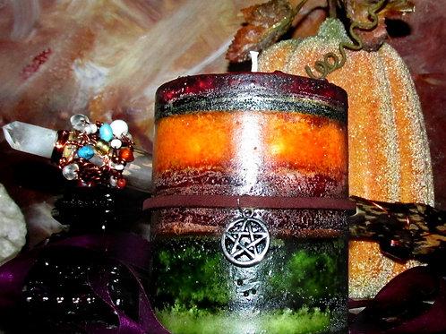 Autumn Harvest Spices Pillar Candle