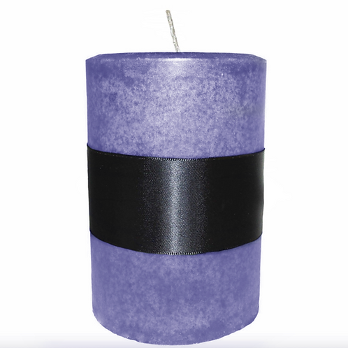 Lavender Pillar Candle