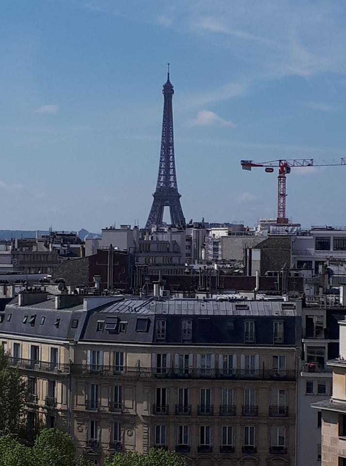 Vu du chantier à Paris
