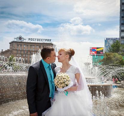 влюбленные в Первомайском сквере