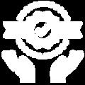 Blanco y Azul Simple Computadora Logo (3