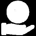 Blanco y Azul Simple Computadora Logo (2