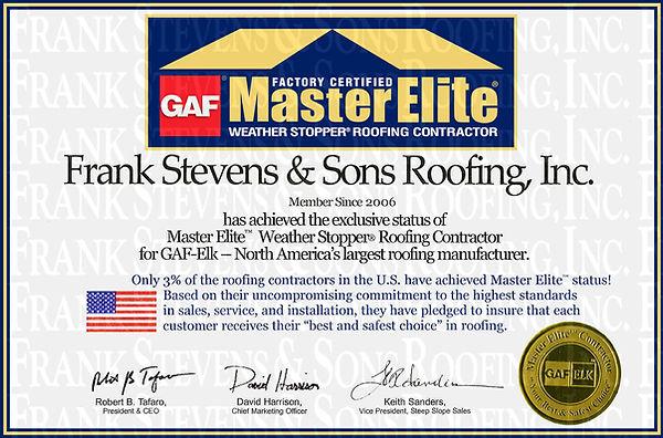 gaf master elite roof contractor