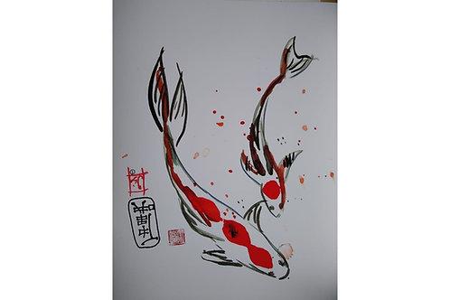 Freshwater fish art work