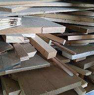 chutes de bois - réemploi - zero déchet - créations Chantourné