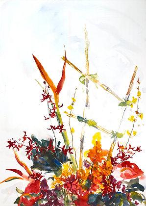 Ikebana I (2018) Hand-Deckled Card