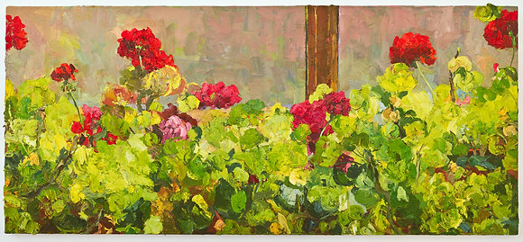 Studio Geraniums in an Early Spring Window (2008)