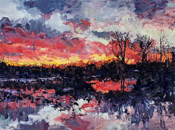 Sunrise on the Bayou (2018) A2 Notecard