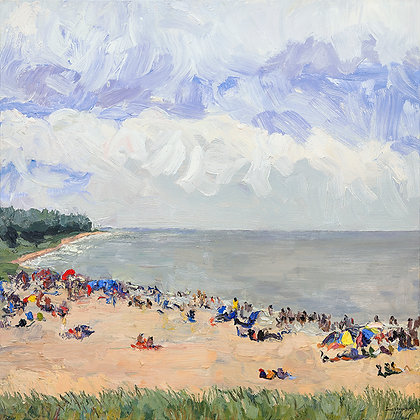 Oval Beach-ers (2017) A2 Notecard