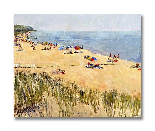 """Oval Beach, Summer, Saugatuck, Michigan (2007) Giclée on Canvas - 30"""" x 37"""""""