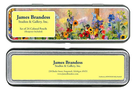 Flowers Colored Pencil Set w/ Sharpener