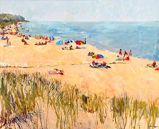 Oval Beach, Summer, Saugatuck, Michigan (2007) A7 Notecard