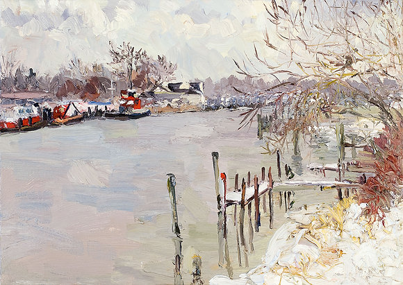 Winter on the Kalamazoo River, Saugatuck