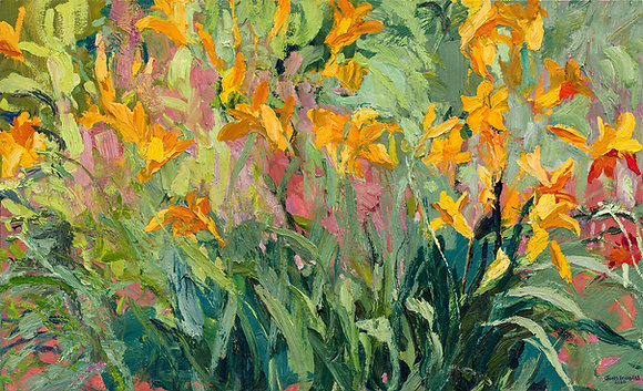 Summer Lilies (2020) Hand-Deckled Card