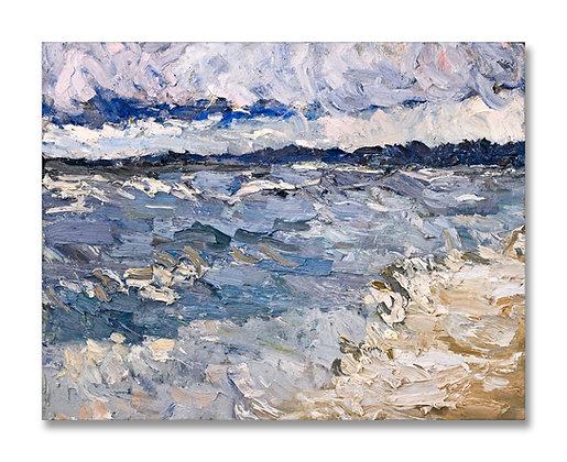 "Lake Michigan, October (2008) Giclée on Canvas - 36"" x 46"""