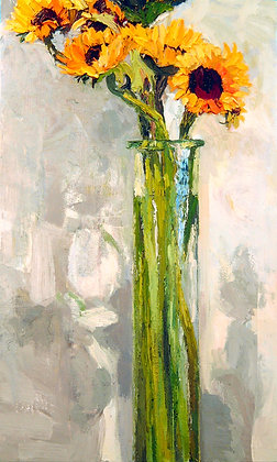 Sunflowers in a Tall Vase (2004)